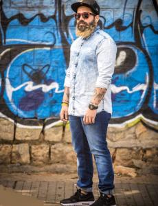 Denim Shirt Denim jeans Sneaker Cap fashion phographer